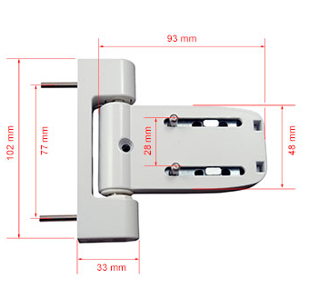 Neon 3d T Flag Door Hinge Lockfinder